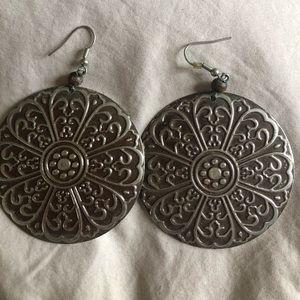 Oversized ornate earrings ( pierced), New, H&M